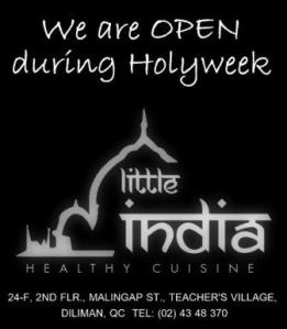 OPEN DURING HOLY WEEK
